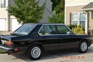 1986 Bmw 535i by 1986 Bmw 535i Black With Interior 5spd Classic Bmw 5