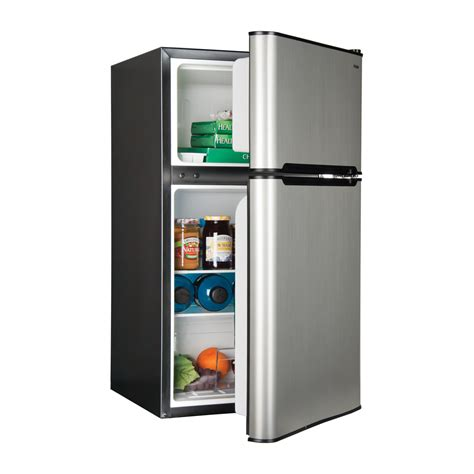 2 door mini fridge haier hnde03vs efficiently compact 2 door 3 3 cubic