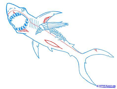 draw  zombie shark step  step zombies
