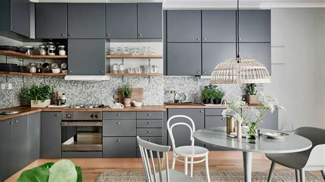 Modern Kitchen Gray Color