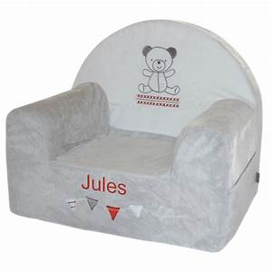 Fauteuil Enfant Mousse : joli cadeau id e cadeau naissance fauteuil en mousse nounours personnalis ~ Teatrodelosmanantiales.com Idées de Décoration