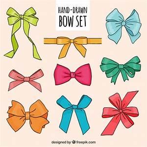 Hand drawn bows Vector | Free Download