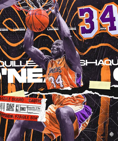 Shaquille O'Neal | Lakers on Behance | Shaquille o'neal ...