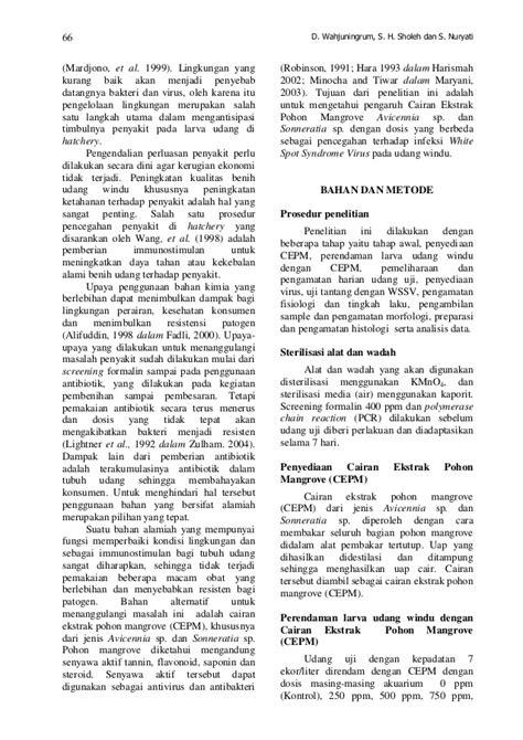 PENCEGAHAN INFEKSI VIRUS WHITE SPOT SYNDROME VIRUS (WSSV