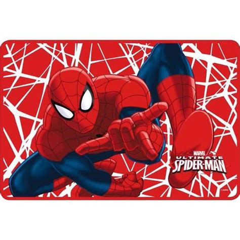tapis ultimate spider man rouge marvel