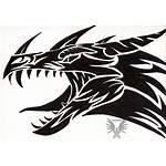 Tribal Dragon Clipart Deviantart Clip Drawings Dragons
