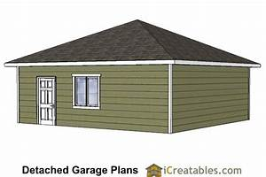 24x24 garage plans with hip roof With 24x24 garage material list