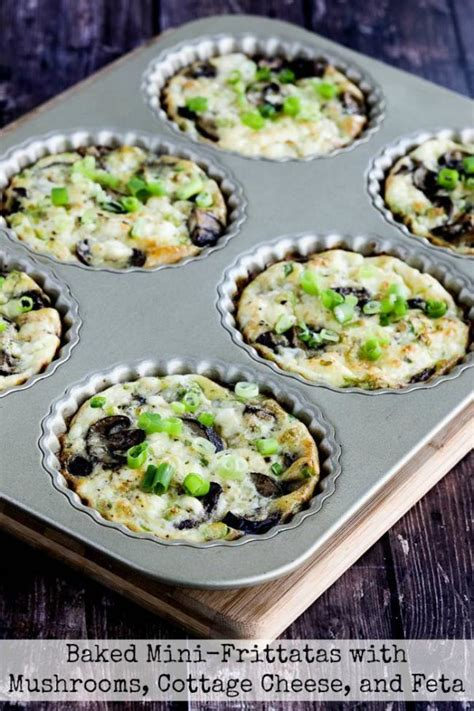 cottage cheese frittata baked mini frittatas with mushrooms cottage cheese and