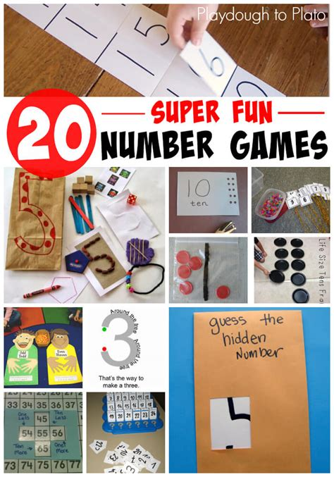 20 number for playdough to plato 664 | 20 Super Fun Number Games
