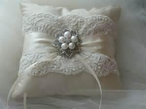 wedding pillow rings wedding ring bearer pillow ivory duppioni silk ringbearer