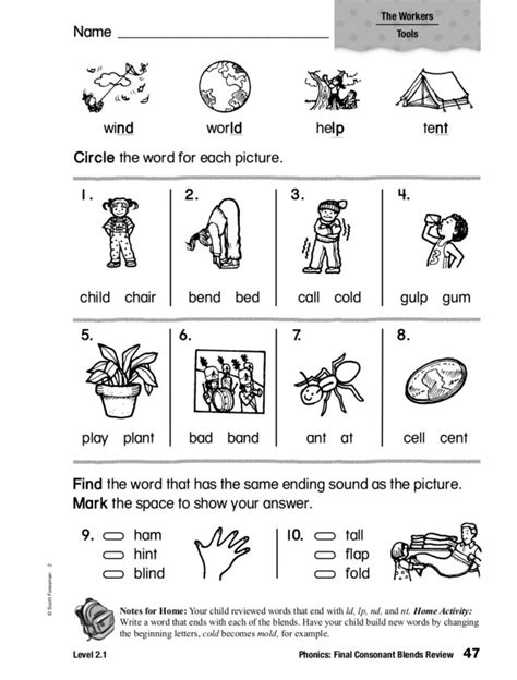 beginning consonant clusters worksheets 1000 images