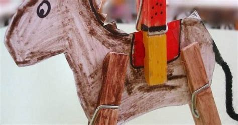 diy homemade clothespin crafts diy cowboy kids ideas
