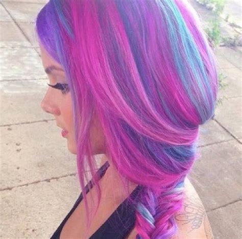 Purple Pink And Blue Hair Bonnaroo Pinterest