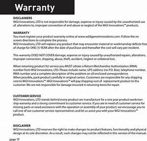 Wgi Innovations N6e Game Scouting Camera User Manual