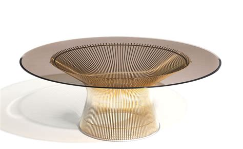 unique glass coffee tables platner gold plated coffee table 36 quot dia hivemodern com
