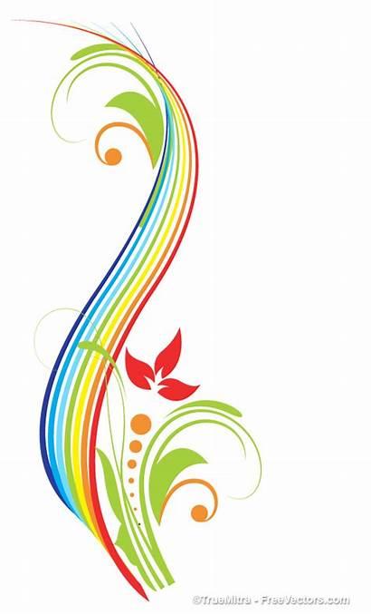 Colorful Swirl Flourish Vector Clip Decorative Clipart