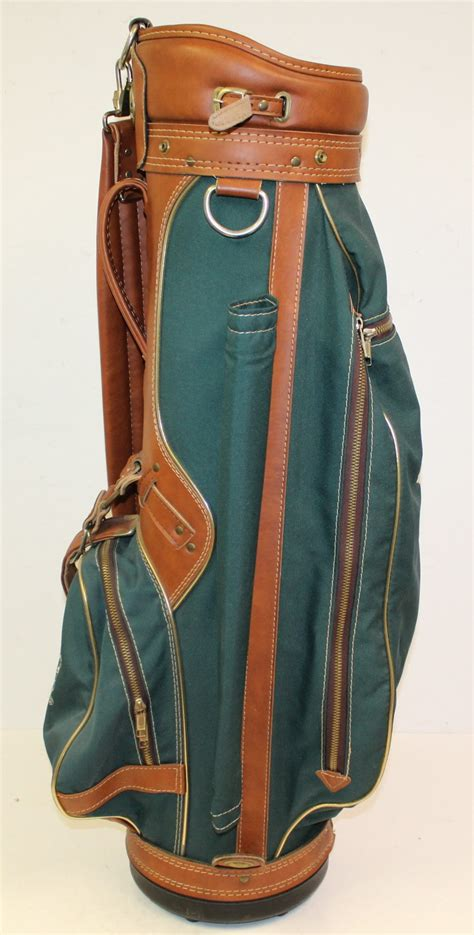 lot detail classic masters hot  leathercanvas golf bag