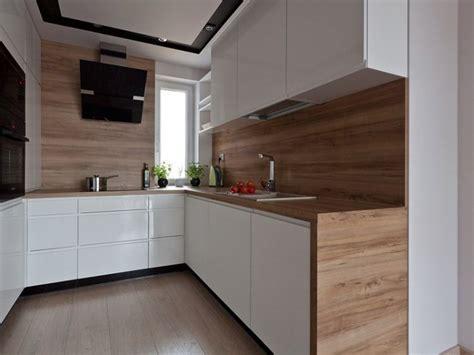 credence cuisine bois plan de travail cuisine 50 idées de matériaux et couleurs