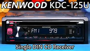Kenwood Kdc-125u Single Din Stereo - New