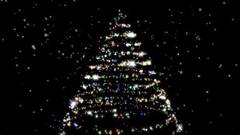 sparkling christmas tree  black background hd youtube