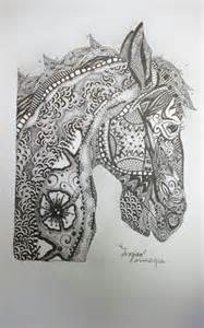 Zentangle Horse Patterns
