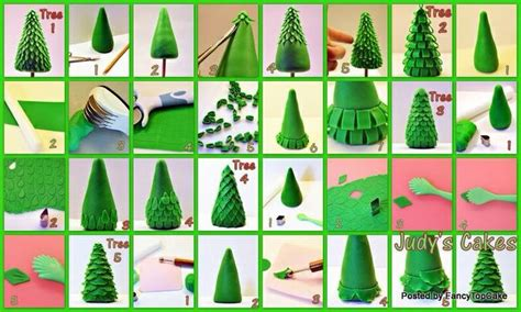 easy classy christmas tree from fondant fondant tree tutorial cakes tutorials fondant tree cake decorating cake