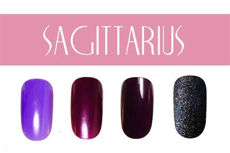 sagittarius color nail color by zodiac sign