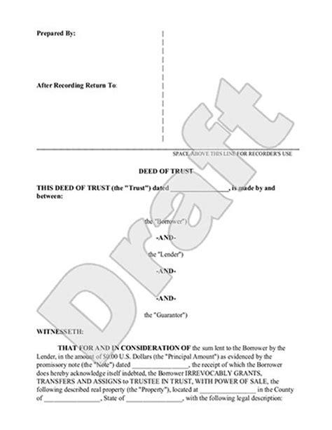 deed  trust form  mortgage  sample