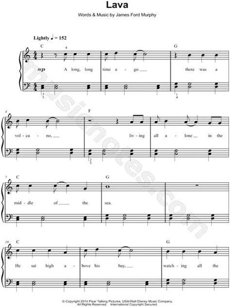 lava  lava pixar short sheet  easy piano