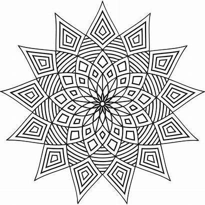 Geometric Coloring Pages Printable Patterns Shapes Designs