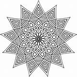 Geometric Coloring Pages Printable Patterns Shapes Designs Adult Pattern Colouring Simple Cool Mandala Adults Print Geometry Abstract Colour Books Star sketch template