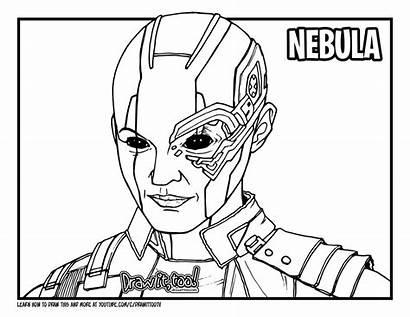 Nebula Avengers Endgame Draw Drawing Colouring Coloring