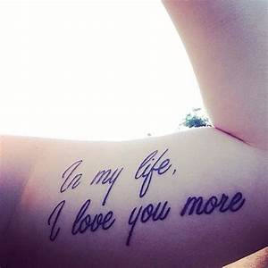 "My ""In my life, I Love you more"" tattoo Beatles song ..."