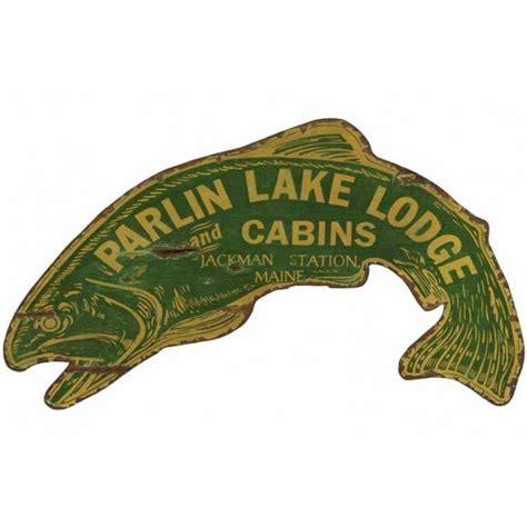 vintage fish sign custom cabin signs