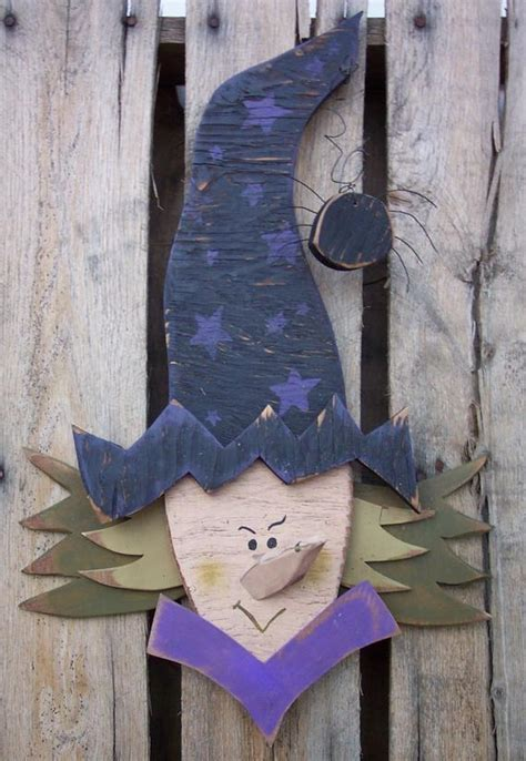 items similar  scary witch wood craft pattern  fall