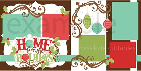 scrapbook title for christmas foods on the table home for the holidays svg scrapbook title svg cut file svg cut files for