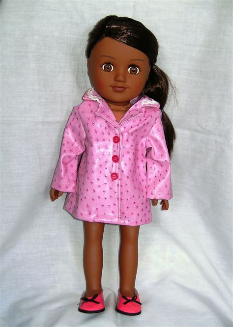 Dolls raincoat for the 18 inch high Sindy doll and most 18