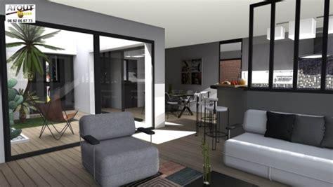 maison contemporaine avec patio interieur maison moderne avecpatio chaios