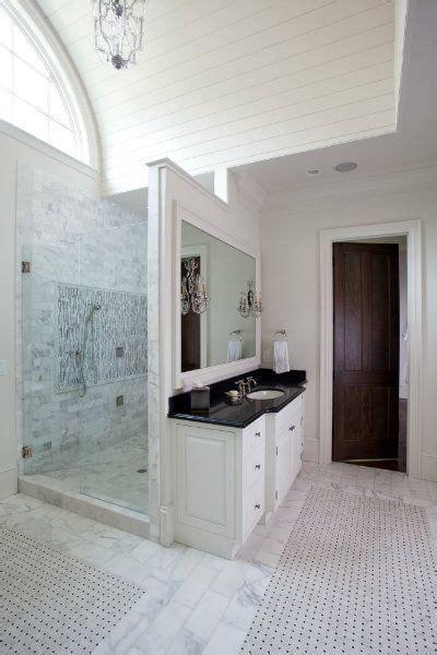 walk  shower  vanity wall bathroom shower
