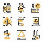 Garbage Waste Icons Vector