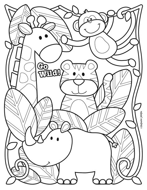 zoo coloring page printable   stephen joseph gifts  coloring pages  stephen