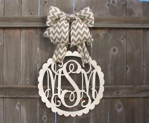 custom monogram initial letter  vintage framedoor