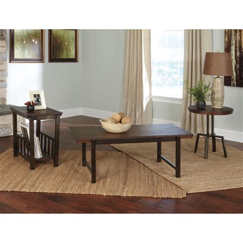 Match your unique style to your budget with a brand new 3 piece coffee and end table sets to transform the look of your room. Signature Design by Ashley Riggerton 3 Piece Coffee Table Set - Walmart.com - Walmart.com