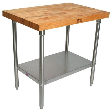 stainless steel work table with two shelves john boos tns02 maple top work table with stainless steel