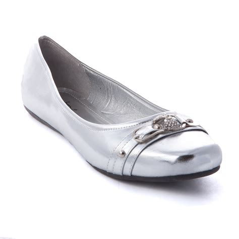 flat silver shoes 39 s ballet slip on casual flat shoes ballerina loafer