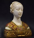 Bust of Hippolyta Maria Sforza. Polychrome marble. 45cm ...