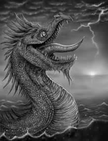 Sea Monster Drawings