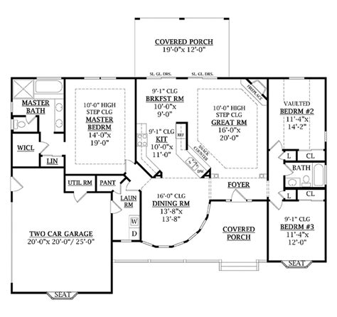 country style floor plans country style house plan 3 beds 2 baths 1800 sq ft plan