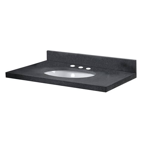 pegasus 37 inch w x 22 inch d granite vanity top in