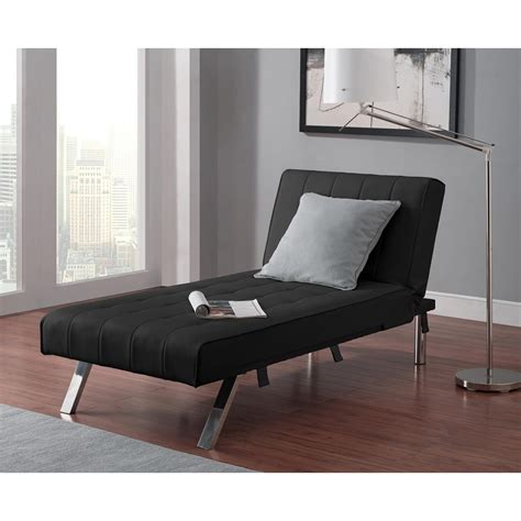 dhp emily faux leather chaise lounge indoor chaise